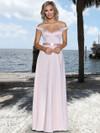 Stretch Chiffon Satin Belt Bridesmaid Dress by Ashley & Justin 20347
