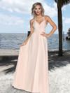 Ruched Top Chiffon  Bridesmaid Dress by Ashley & Justin 20348