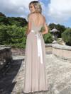 Ashley & Justin Stretch Chiffon Satin Waist Bridesmaid Dress 20353