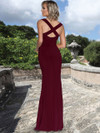 Ashley & Justin Trumpet Jersey Bridesmaid Dress 20354