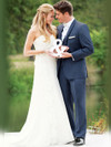 stylish blue wedding tuxedo rental