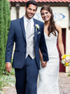 slim fit blue bridal tuxedo
