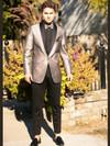 stone metallic tuxedo jacket