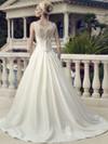 Casablanca 2154 bateau Neckline Wedding Dress