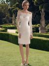 Casablanca 2169S Off The Shoulder Short Wedding Dress