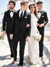 black slim fit tuxedo michael kors for weddings or prom
