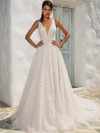 Justin Alexander 8953 V-neckline Wedding Dress