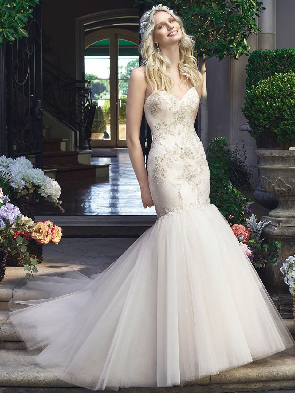 Casablanca 2219 Strapless Sweetheart Wedding Dress