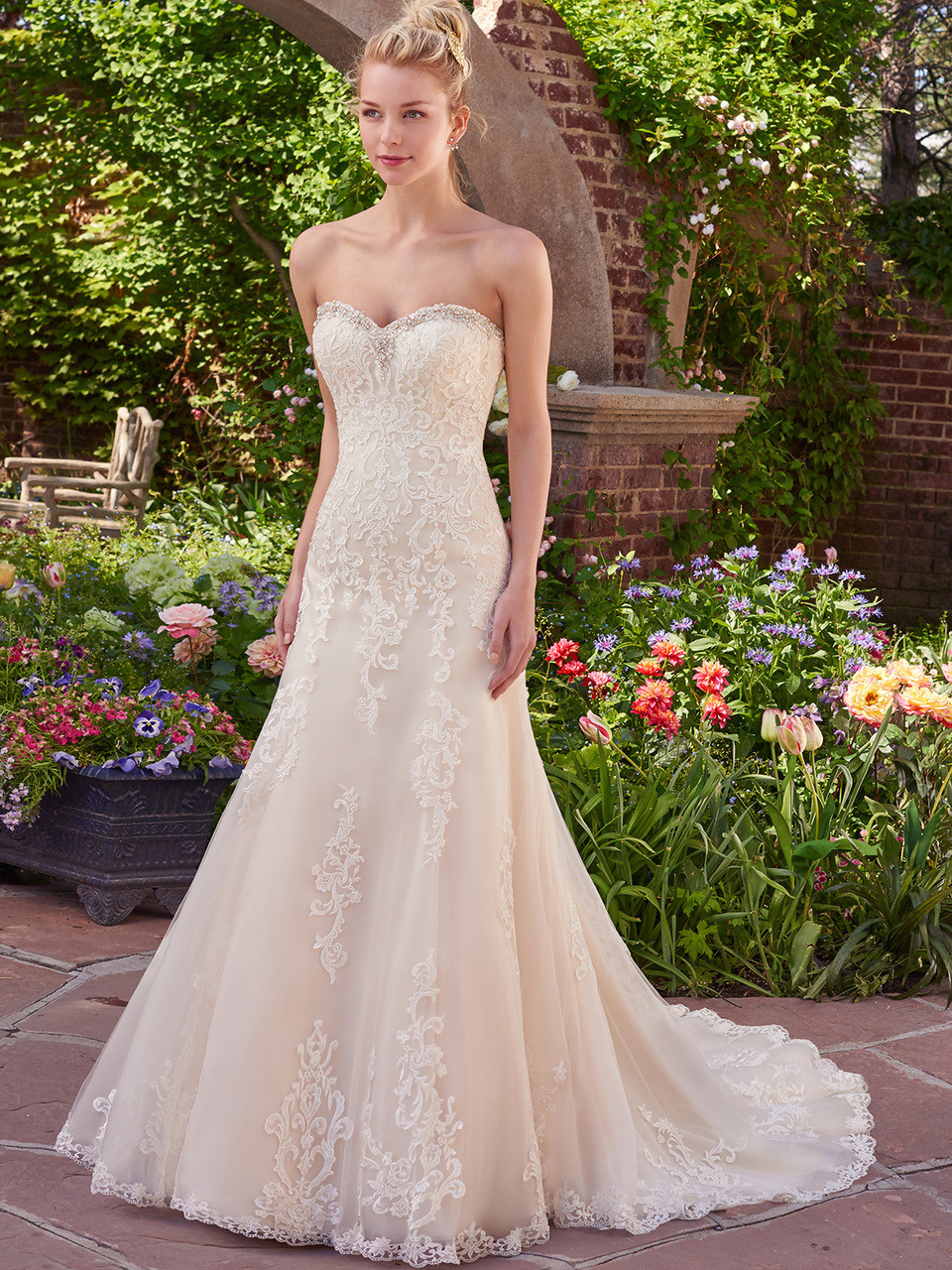 1d780a2a7d5 Rebecca Ingram Fit   Flare Bridal Gown Vernice by Maggie Sottero ...