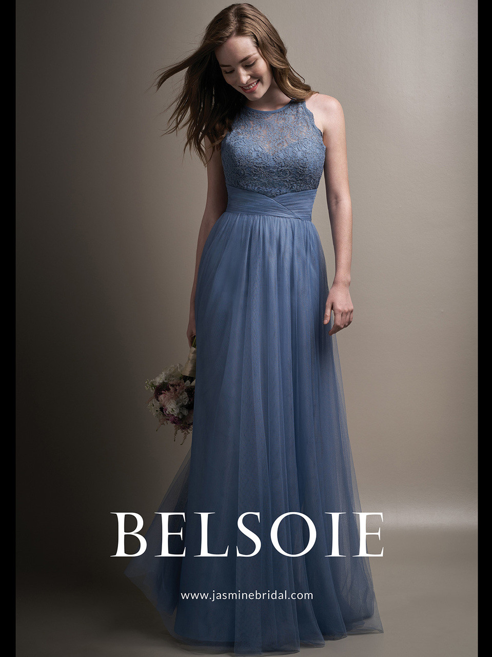 cdc1d4b3da Belsoie L194009 Soft Tulle A-line Bridesmaid Dress - DimitraDesigns.com