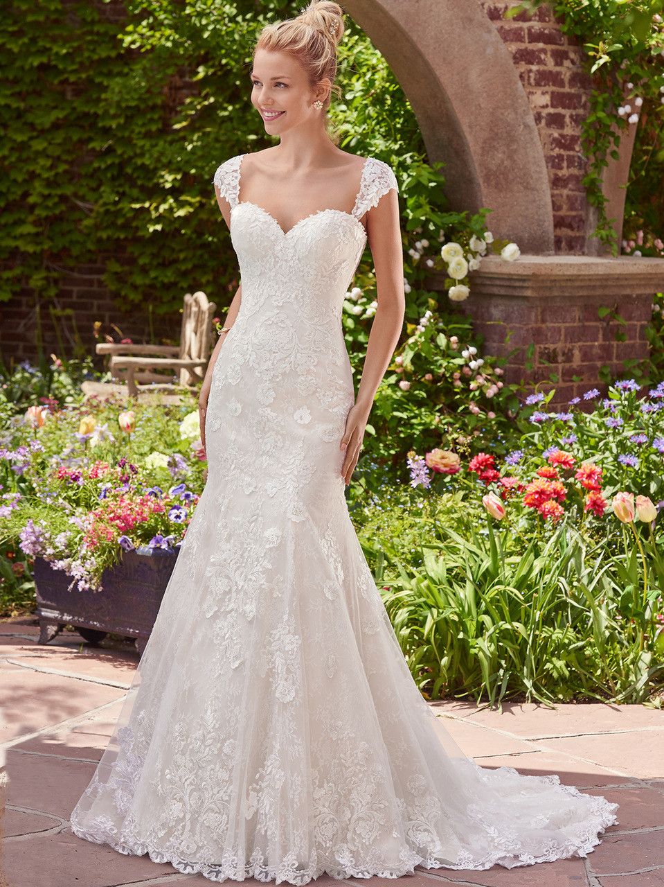 7b73ab3543a Rebecca Ingram Sweetheart Bridal Gown Brenda by Maggie Sottero ...