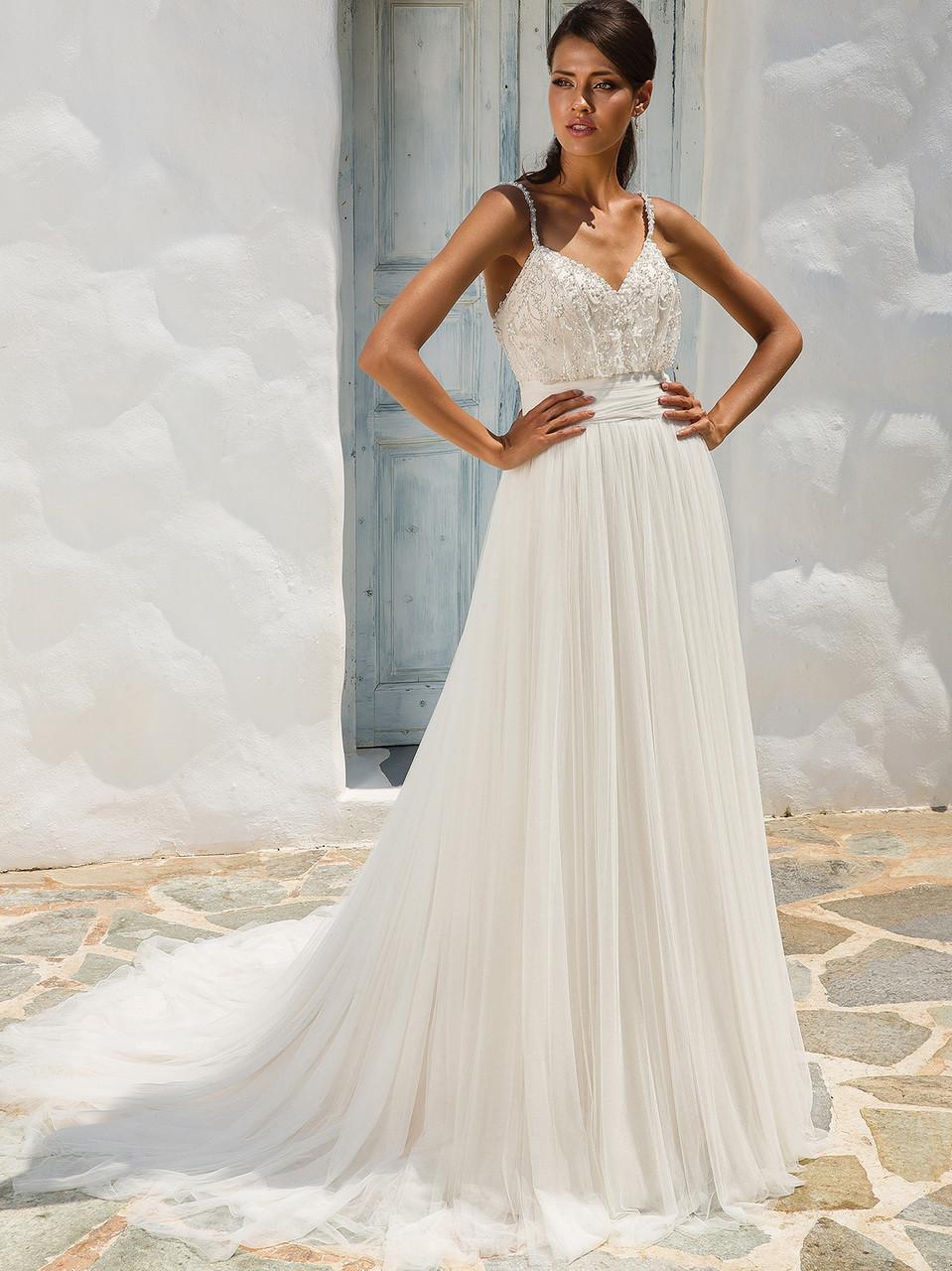 dda0a0ac1c Justin Alexander 8956 Spaghetti Straps A-line Wedding Dress ...