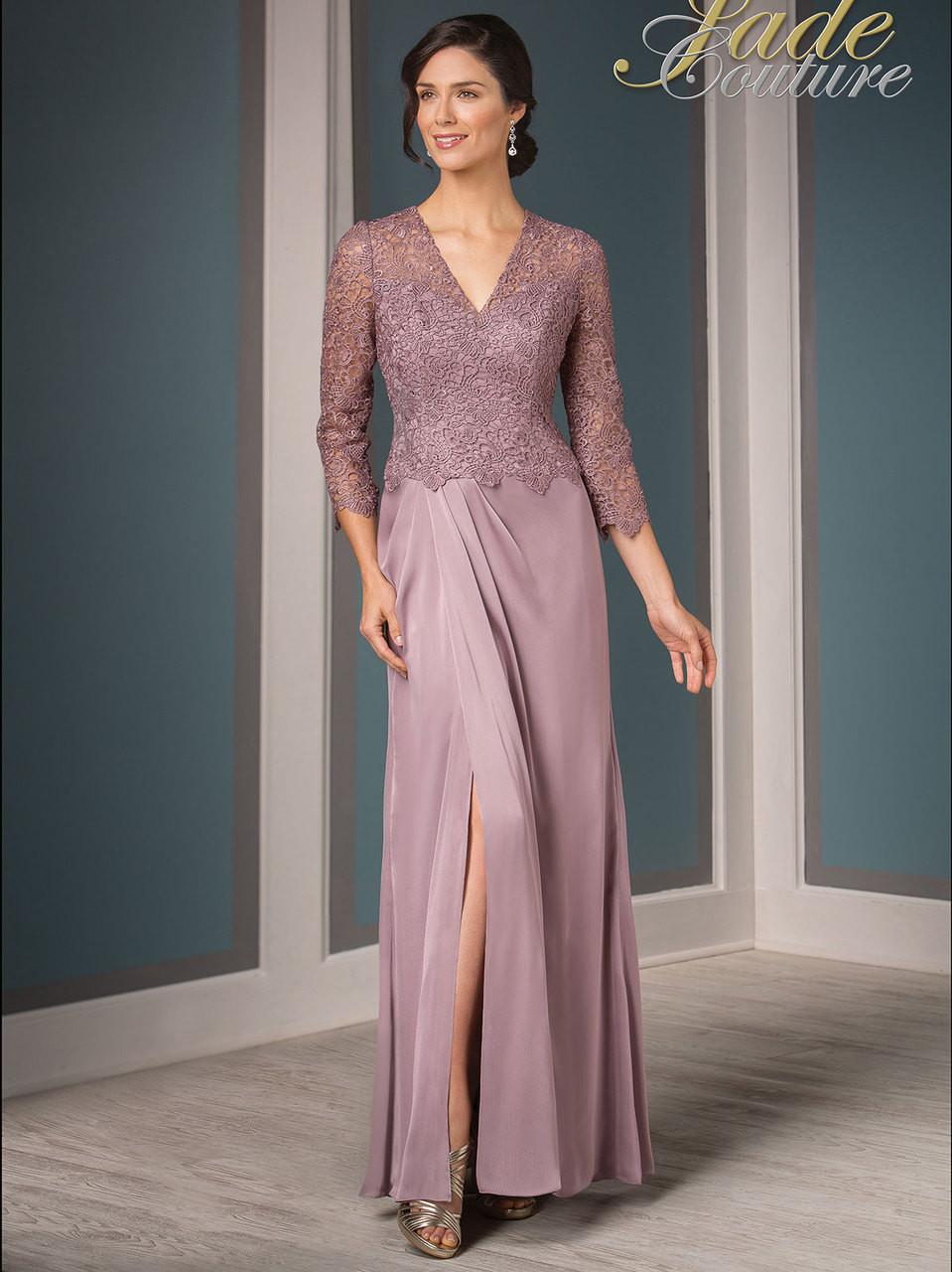 56734b523ba Jade Couture K188015 V-neck Mother Of The Bride Dress