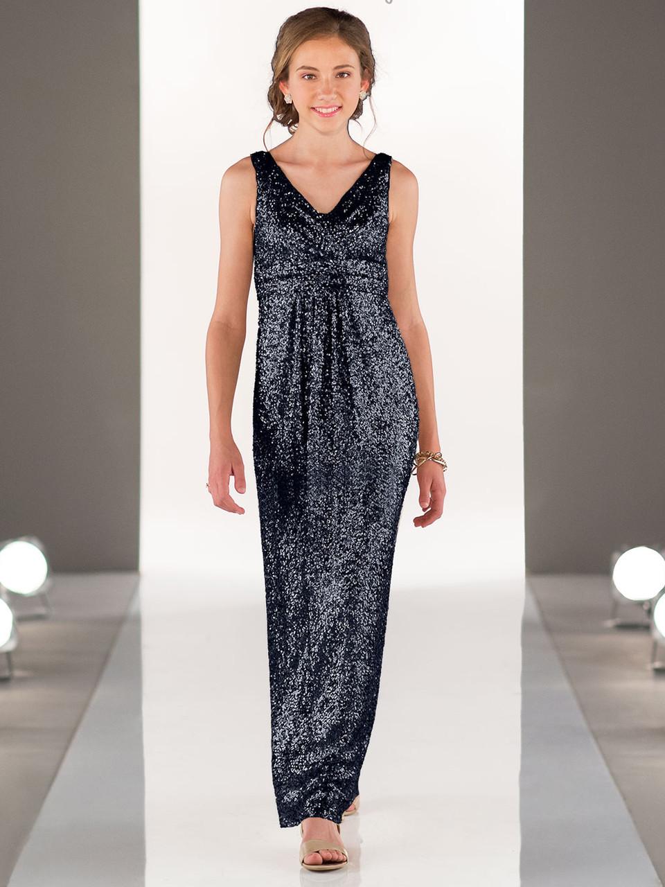 02a11a076bc Sorella Vita J4012 Sequin V-neck Juniors Bridesmaid Dress ...