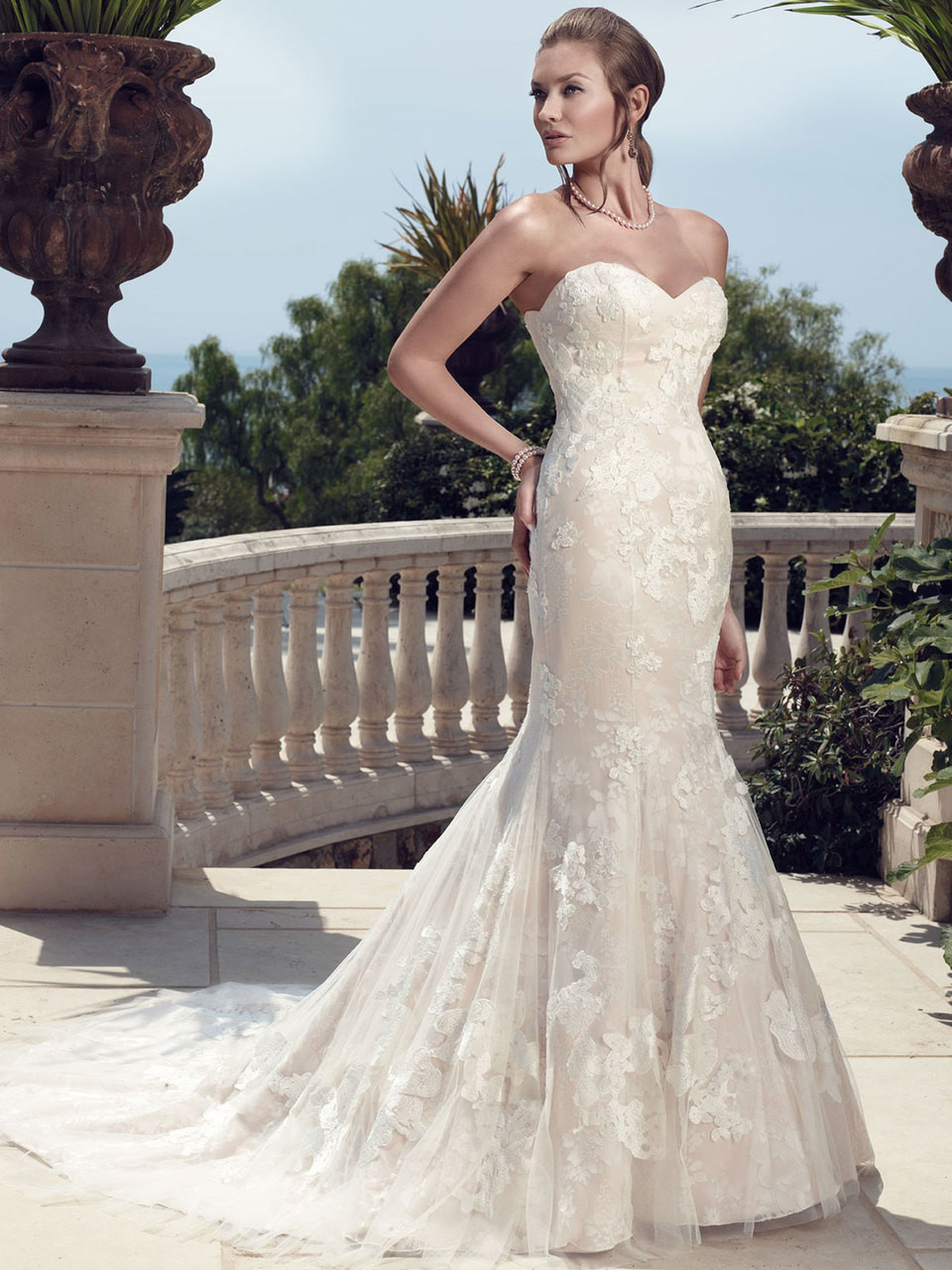 Casablanca 2142 Strapless Mermaid Bridal Gown Dimitradesigns Com