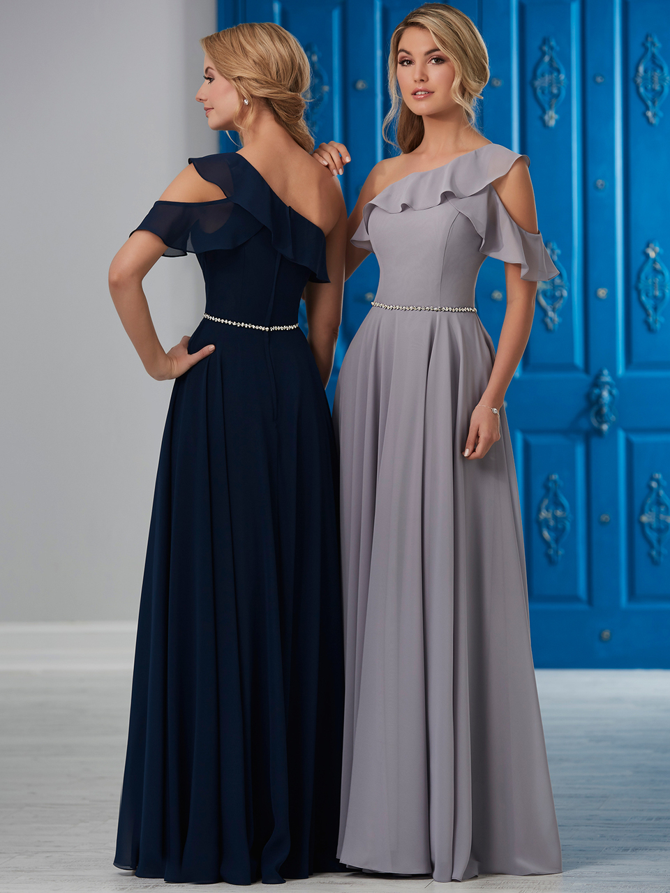 b59d0955b6 Ruffled One Shoulder Bridesmaid Dress by Christina Wu 22853