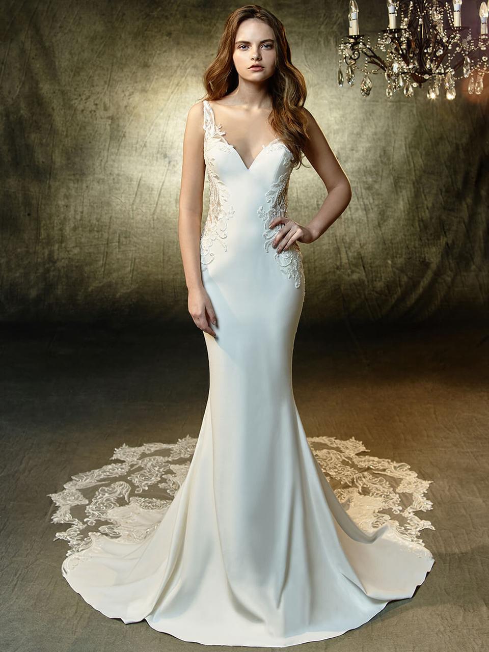 732bb7bff6d Deep Sweetheart Wedding Gown Blue by Enzoani Laramie