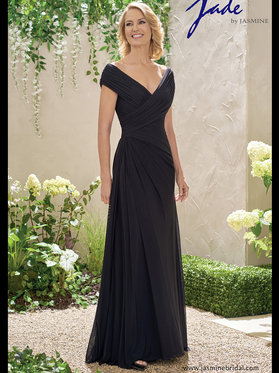 4c94fa76d72 Jade J195001 V-neck A-line Mother Of The Bride Dress ...