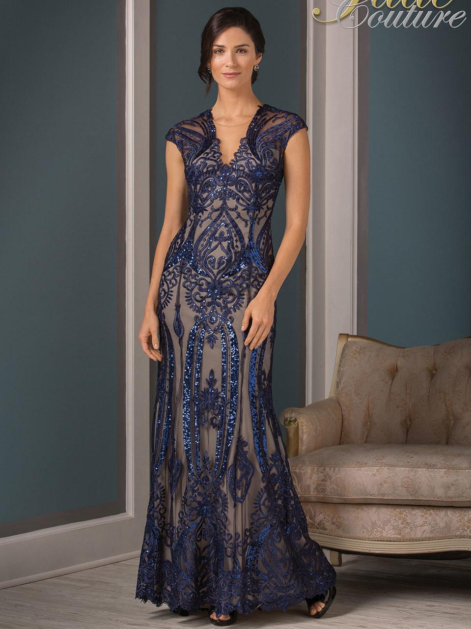 Jade Couture K188001 V Neck Floor Length Mother Of The Bride Dress Dimitradesigns Com