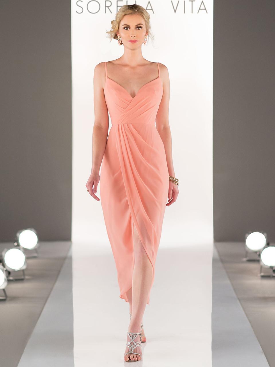 f3d01226fc8 Sorella Vita 8776 Chiffon Midi Length Bridesmaid Dress ...