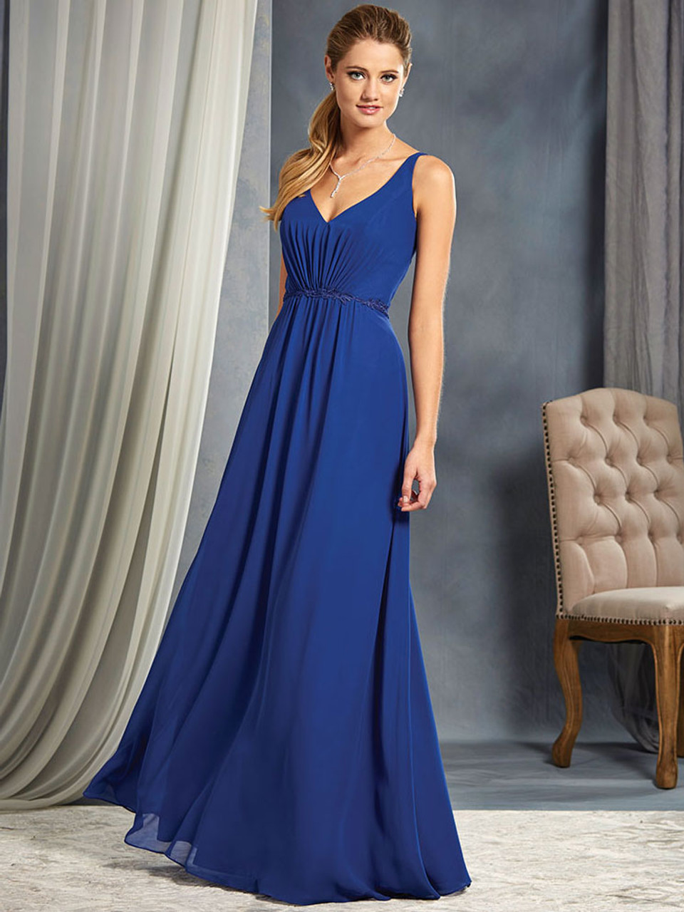 9083c118a7 Alfred Angelo 7366L Chiffon Floor Length Bridesmaid Dress ...