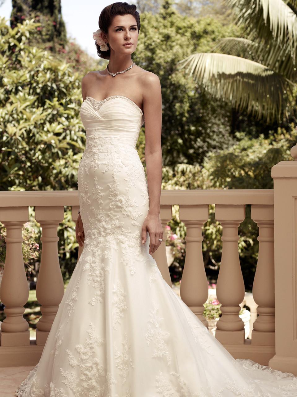 Sweetheart Trumpet Casablanca Bridal Gown 2115 Dimitradesigns