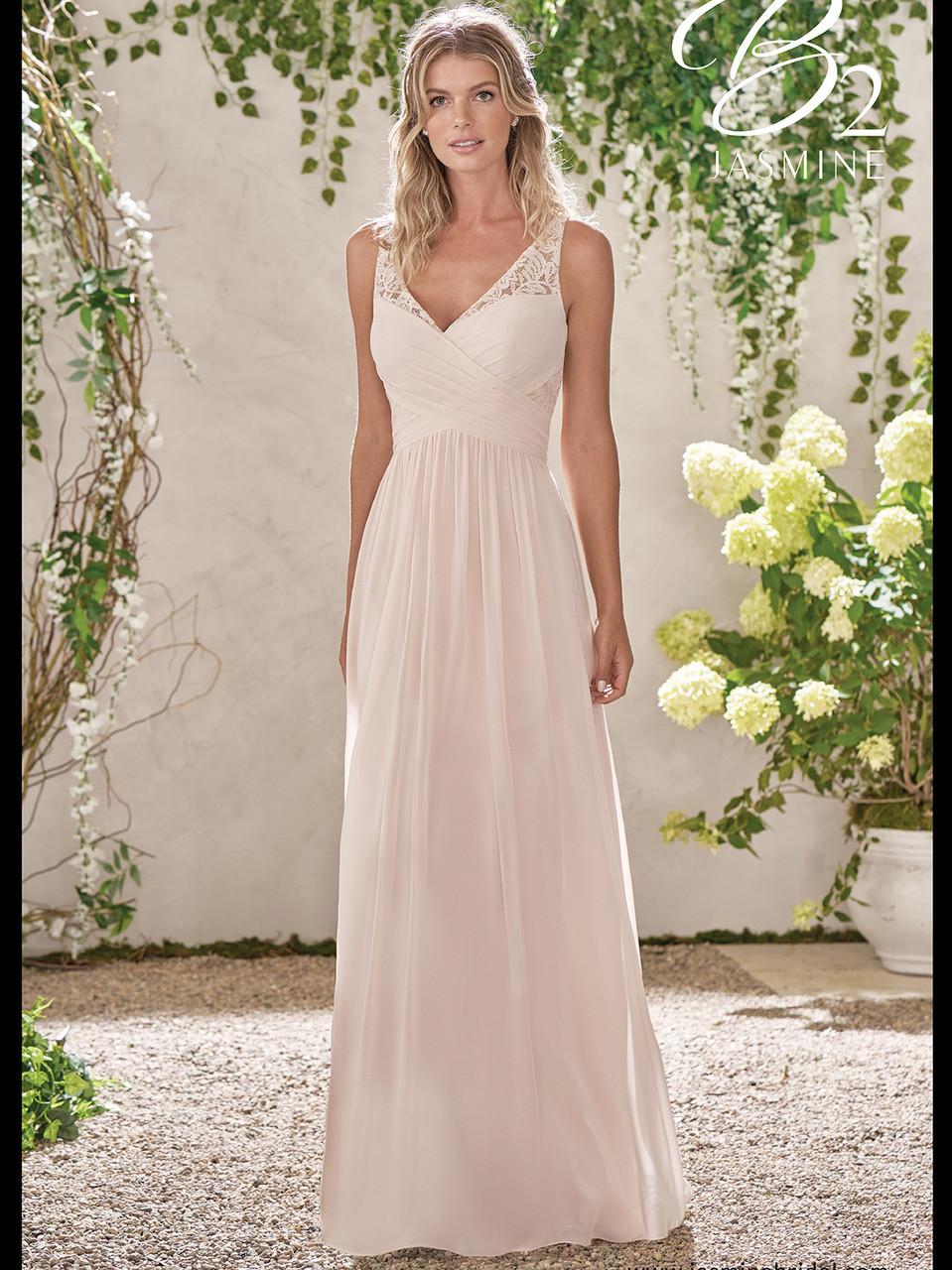 393bfa5953 Jasmine B193001 V-neck A-line Bridesmaid Dress - DimitraDesigns.com