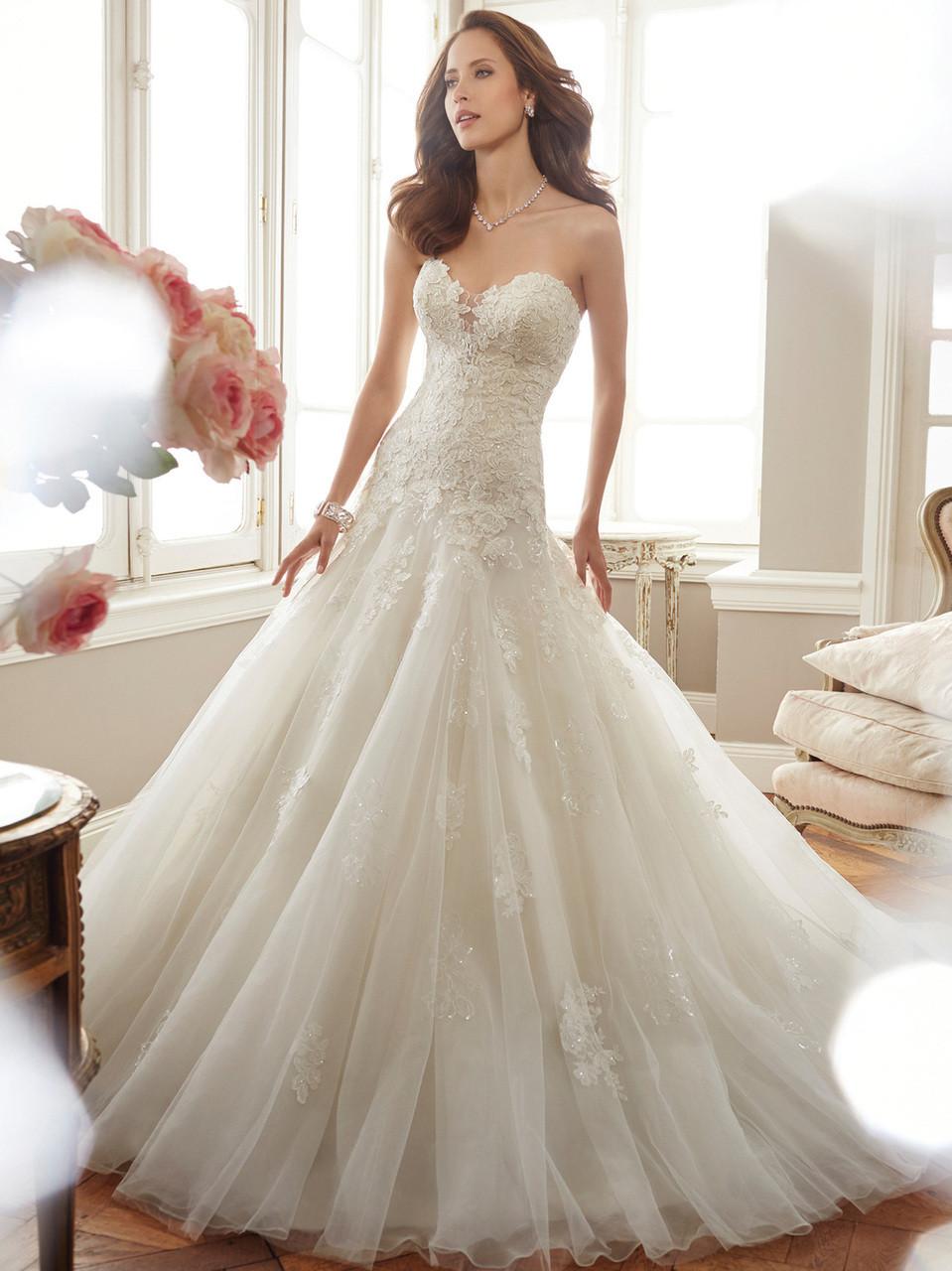 c9e0bd0f4e55 Sophia Tolli Y11715 Sweetheart Fit And Flare Deon Bridal Dress ...