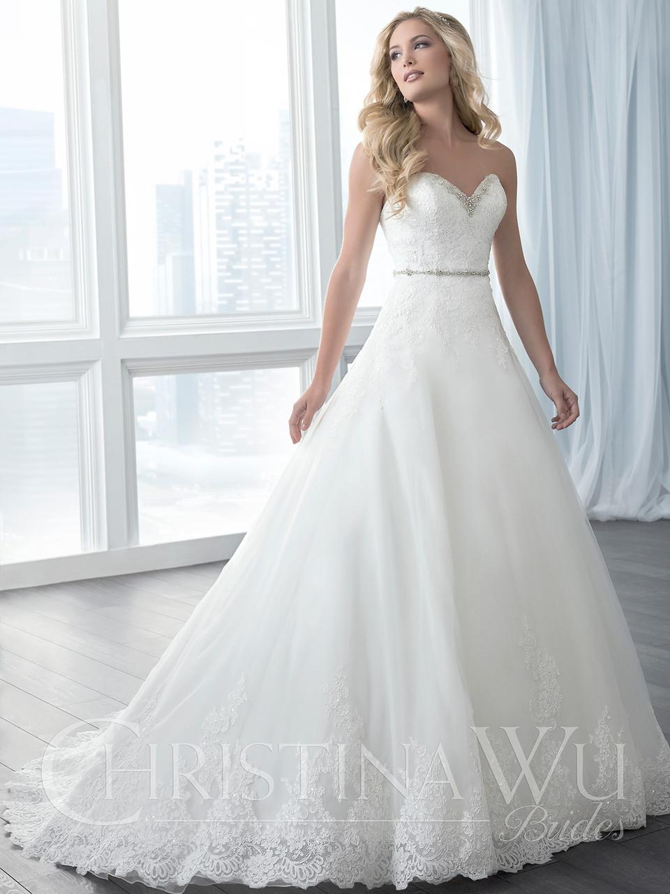 2a1b5db8fa3b Christina Wu 15619 Sweetheart A-line Wedding Dress - DimitraDesigns.com