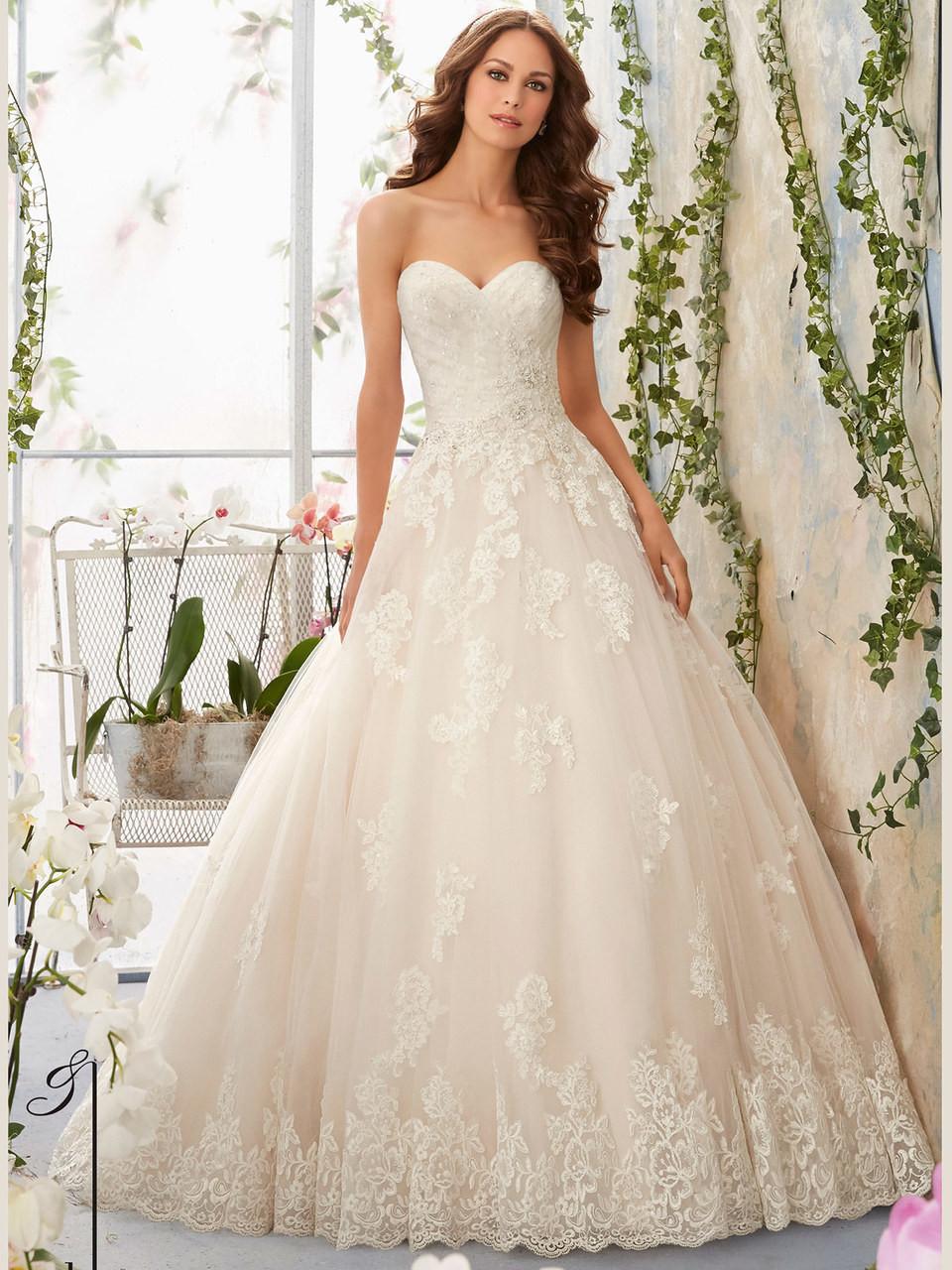 Mori Lee Blu 5406 Tulle Ball Gown Bridal Dress Dimitra Designs