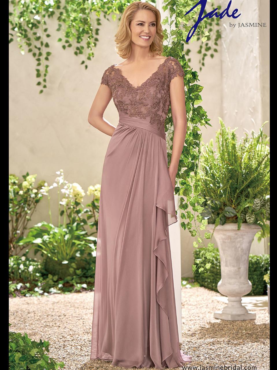 336cfc2705e Jade J195008 V-neck A-line Mother Of The Bride Dress ...