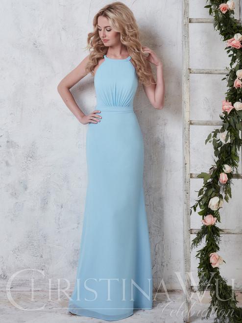 305dc84820e Christina Wu Celebration 22741 High Neck Bridesmaid Dress