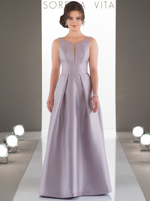 9d428bbb683 Mikado A-line bridesmaid dress Sorella Vita 9130