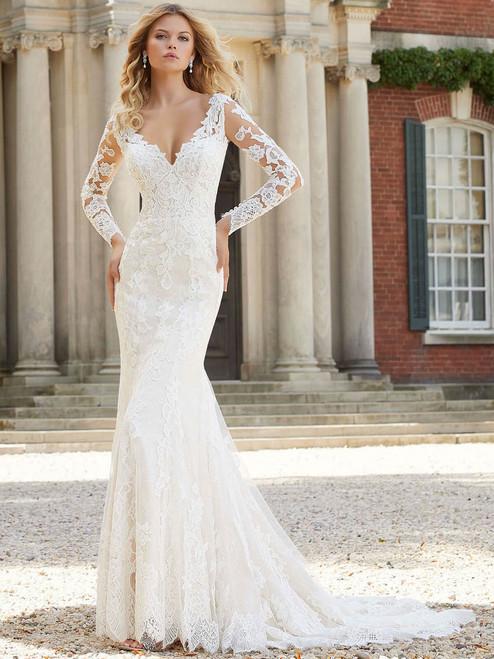 462ad9519b756 Long Sleeves wedding gown Mori Lee Pearlina 2022