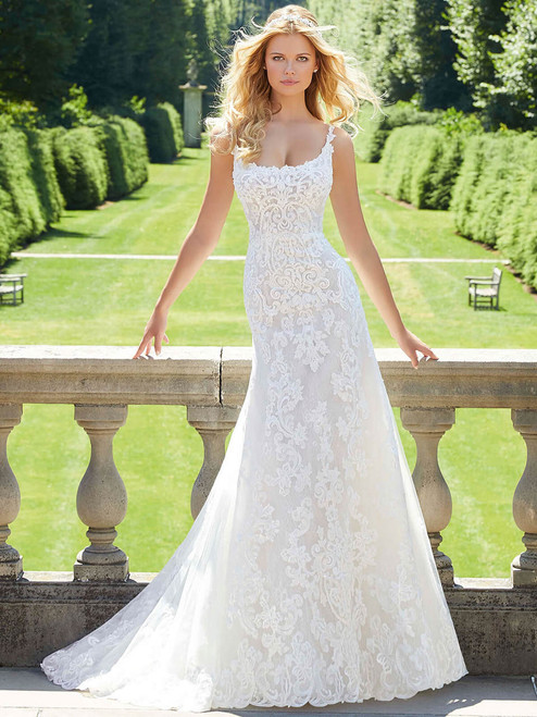 6f80090ae1d Scoop Neckline wedding gown Mori Lee Padma 2035