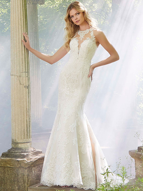 d9720bf37a Fit And Flare wedding gown Mori Lee Parvati 2038