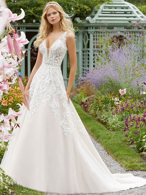 86b750174e0 A-line wedding gown Mori Lee Parthenia 2041