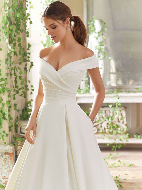 0848ae65d4da Off The Shoulder Wedding Gowns | DimitraDesigns.com