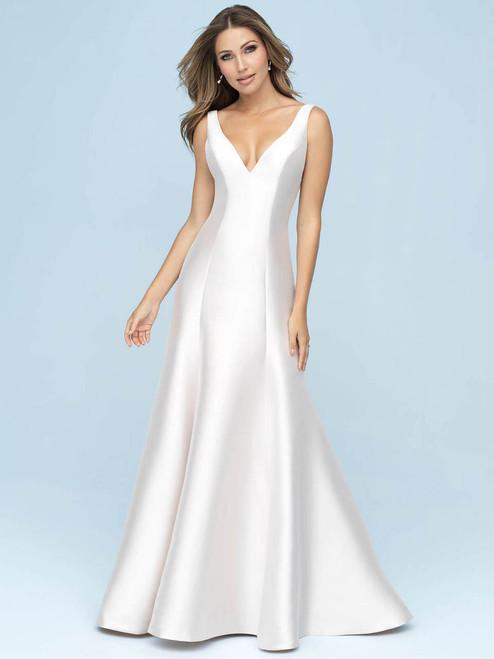 ad214b2aef V-neck Mikado wedding gown Allure Bridals 9600