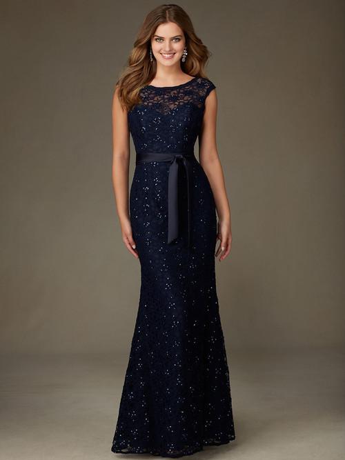 Mori Lee 121 Cap Sleeves Bridesmaid Dress