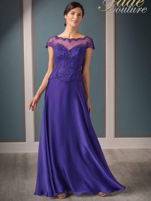 Jade Couture K188010 Bateau Neckline Mother Of The Bride Dress