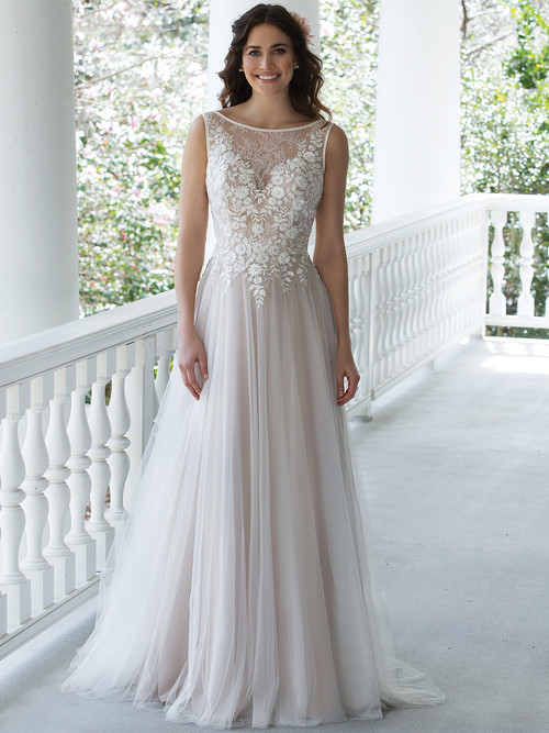 Sincerity 3945 Sabrina Neckline Wedding Dress