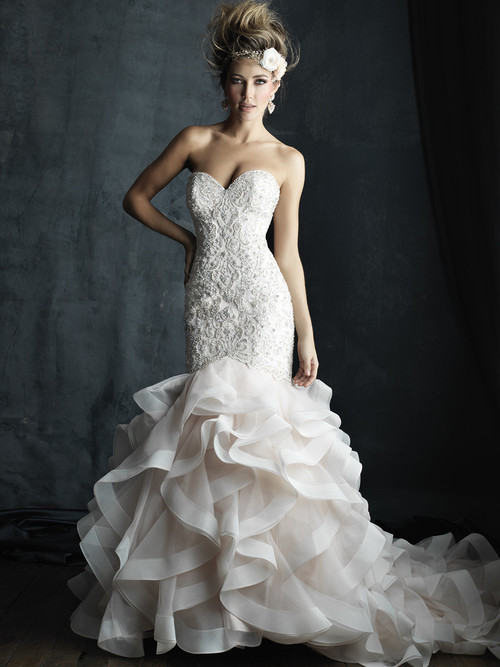 Allure Couture C389 Sweetheart Wedding Dress
