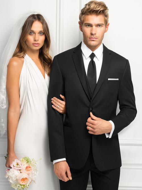 """black wedding tuxedo with 30.5"""" length jacket ultra slim fit"""