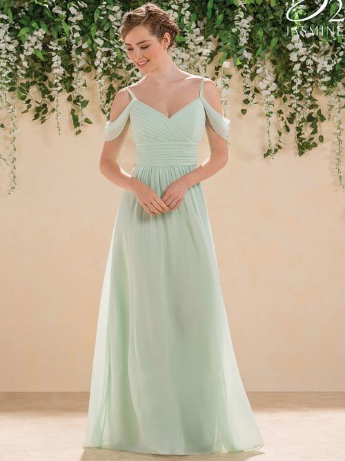 V-neck Pleated Bridesmaid Dress B2 B183005