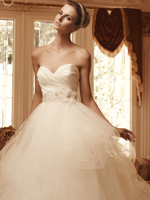 Sweetheart Ruched Bridal Gown Casablanca 2103