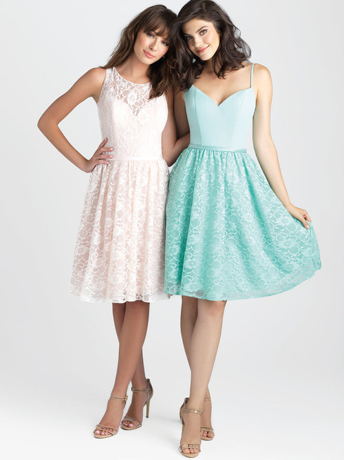 Allure 1508 V-neck Chiffon Bridesmaid Dress