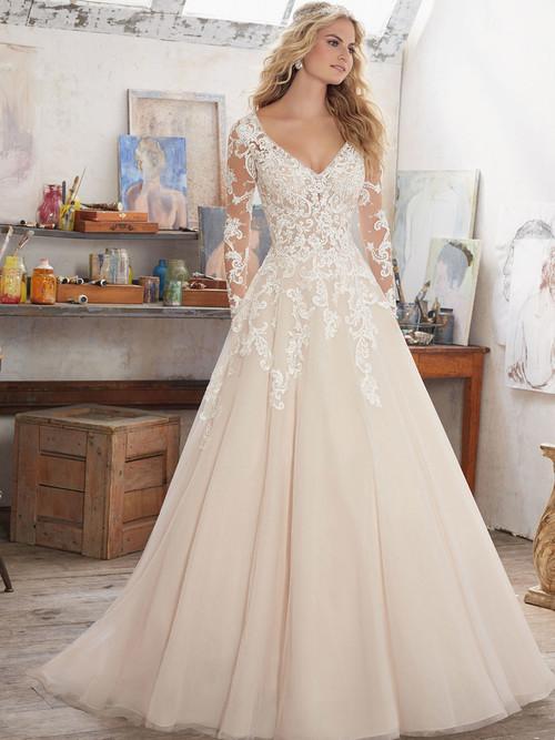 Mori Lee 8110 V-neck Wedding Dress Maira