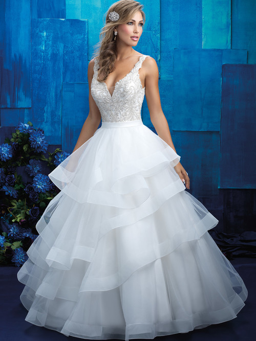 Allure Bridals 9418 V-neck Wedding Gown