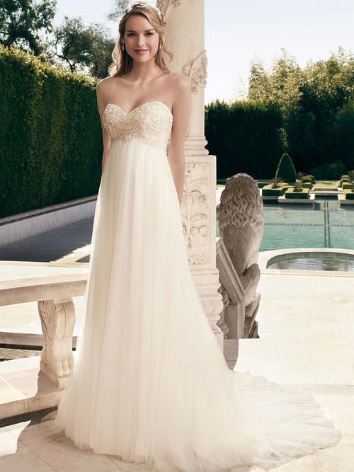 Casablanca 2172 Spaghetti Strapped Wedding Dress